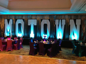 large letters for backdrop